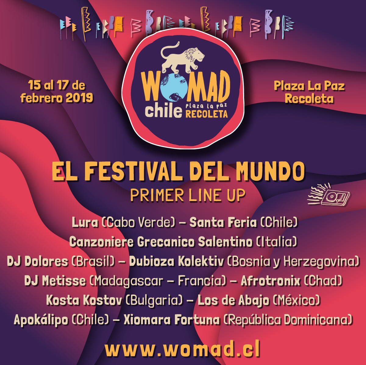 Primer line up WOMAD Chile 2019